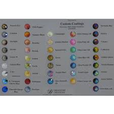 Swarovski Rivolis With Special Coatings Color Chart