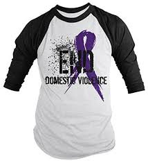 men s end domestic violence purple ribbon shirt sleeve raglan  let s end domestic violence show support for those affected by this awful subject often