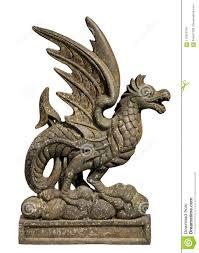 antique old cast iron dragon door stop
