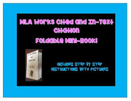 Mla Works Cited And In Text Citation Mini Book