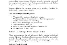 Resume Objective Tips Writing a good resume current print acting example of objective in 98