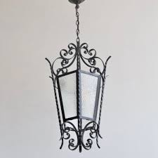 large vintage wrought iron lantern