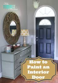 Foyer Wall Colors How To Paint An Interior Door Hale Navy The Turquoise Home