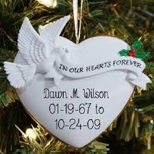 In Our Hearts Personalized Ornament - Christmas Memorial Ornaments