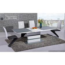 arctic grey glass top and white gloss extending dining table 120cm to 160cm
