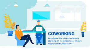 Office Banner Template Coworking Office Promotion Flat Banner Template Modern Workspace