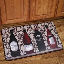 Foam Kitchen Floor Mats Memory Foam Anti Fatigue Kitchen Floor Mat Wine Bottles Anti