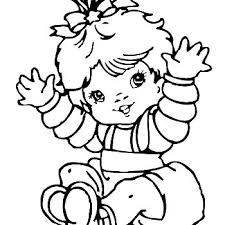 Small Picture New Baby Girl Coloring Page Twisty Noodle Baby Girl Coloring