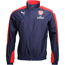 puma mens afc nal vent thermo dwr windcell stadium jacket peacoat red