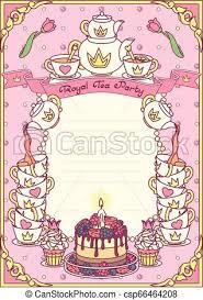 Royal Invitation Template Vector Royal Tea Party Template