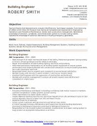 building a resume templates building engineer resume samples qwikresume