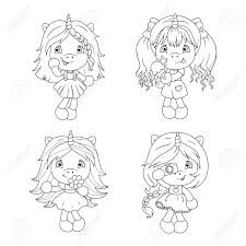 Facebook is showing information to help you better understand the purpose. Cute Baby Unicorns Coloring Page For Girls Vector Illustration Royalty Free Cliparts Vectors And Stock Illustration Image 115075425