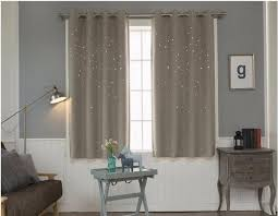 modern window curtain living room 3d hollow star pattern window treatments solid curtains for bedroom single