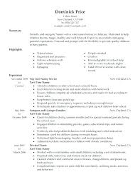 Resume For Nanny Beauteous Best Nanny Resume Baxrayder