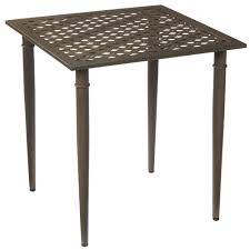 hampton bay oak cliff metal outdoor bistro table 176 411 steel patio side table