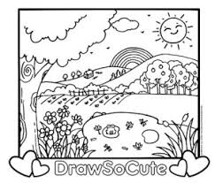 Are you looking for the best adorable and cute coloring pages for your kids? Coloring Pages Draw So Cute