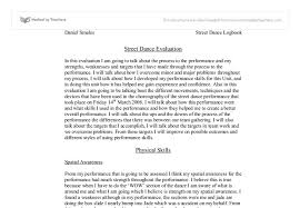 street dance evaluation a level drama marked by teachers com document image preview