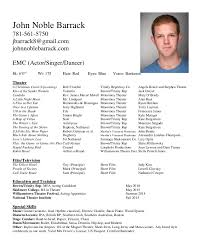 Actor Resume Impressive Acting Resume