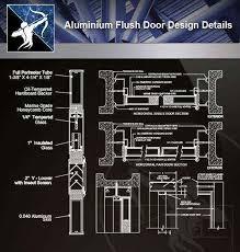 aluminium flush door design cad details