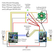 color changing saber using clone wars ultimate lightsaber saber because of the illuminated switches but if you can this diagram you can probably figure out how to modify the wiring for the switches