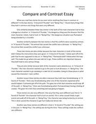 Comparison And Contrast Essays Examples Sample Outline Of A Compare And Contrast Essay Www