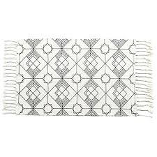 moroccan area rugs cotton rug hand woven cream black chic diamond moroccan area rugs moroccan trellis