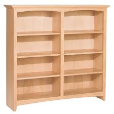 Pine 48 Inch Bookcase With Doors Howard Hill Furniture Wide Design