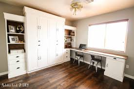 murphy bed office. Gorgeous DIY Modern Farmhouse Murphy Bed With Desk Modifications Office N