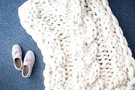 image 0 chunky knit throw blanket pattern australia cable