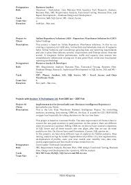 Business Objects Resume Business Reporting Analyst Resume Mattbrunsme 85