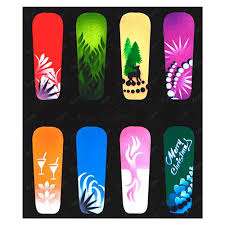 Nail art stencils ~ Beautify themselves with sweet nails