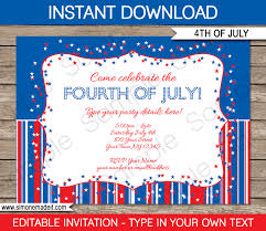 Fourth Of July Party Invitations Template