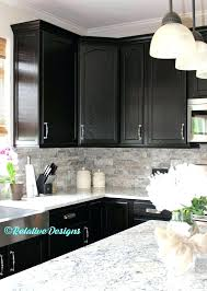 backsplash ideas for dark cabinets kitchen tile with black73 cabinets
