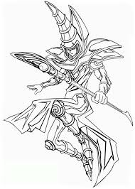 Small Picture The Dark Magician from Yu Gi Oh Coloring Page NetArt