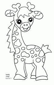 Excellent Baby Zoo Animal Coloring Pages Free Printable Giraffe For