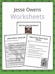 Jesse Owens Facts, Worksheets, Accomplishments & Biography For Kids