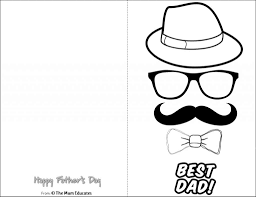 Doesn't papa deserve a colorful tribute to his dad skills? 10 Free Father S Day Cards Fun Colouring Cards The Mum Educates