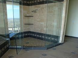 Shower  Awesome All Glass Shower Terrific Ceramic Tile Shower Small Shower Tile Ideas