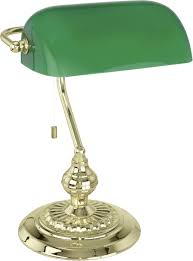 Desk Lamp Hv Halogen E27 60 W Eec Depending On Light Source A E Eglo Banker Traditional 90967 Brass Green