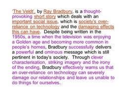 veldt essay  the veldtrdquo by ray bradbury essay sample