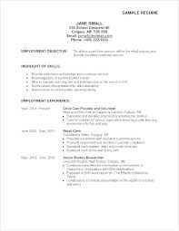 Good Examples Of A Resume Stunning Sample General Career Objective Examples Resume Summary Example Of