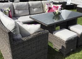 deco garden furniture. Sofa 5pc High Back Modular Corner Rattan Garden Furniture Deco Pertaining To Elegant