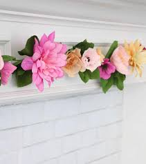 Flower Making With Crepe Paper Step By Step Make A Crepe Paper Flower Garland A Beautiful Mess