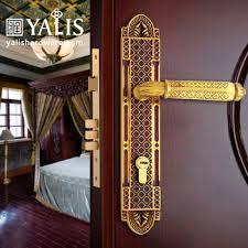 front door locks luxury design gold polish br door handles