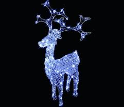 ling white led reindeer with prysm decoration