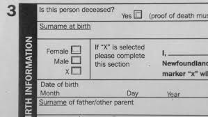Nova Scotia To Allow X As Sex Option On Birth Certificates Cbc News
