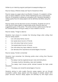 calam eacute o reunion essay effective ideas and tips for students to calameacuteo reunion essay effective ideas and tips for students to write