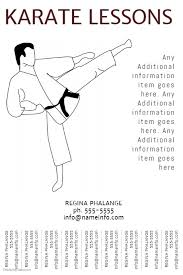 Karate Lessons Flyer Template With Tear Off Tabs Postermywall