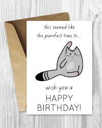Birthday Cards Free Download Printable Adorable Funny Birthday Cards Printable Birthday Cards Funny Cat Etsy