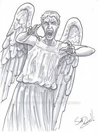 Angel Sketch Weeping Angel Sketch Drawing Skill